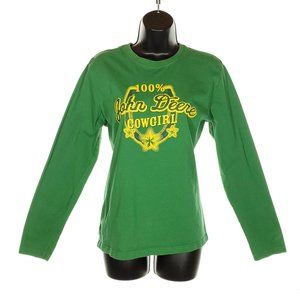 JOHN DEERE 100% Cowgirl T-shirt Youth Large